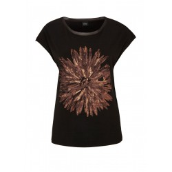 T-shirt avec impression florale sur le devant by s.Oliver Black Label