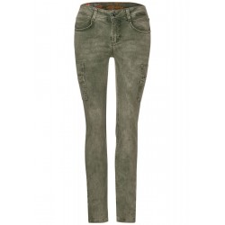 Denim de couleur en style cargo by Street One