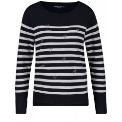 Sweater with stripe pattern by Gerry Weber Casual