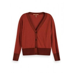 Cardigan with V-neck in wool blend by Maison Scotch
