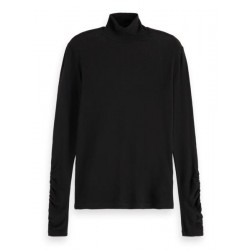 Long-sleeved T-shit from Lyocell with turtleneck by Maison Scotch