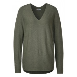 Pullover with ribbed structure by Street One
