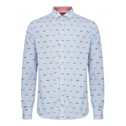 Shirt with stripes and cars by Colours & Sons