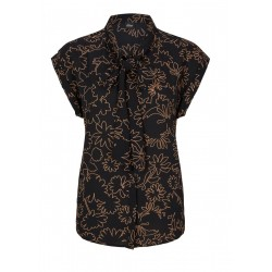 Blouse en crêpe avec cravate by s.Oliver Black Label