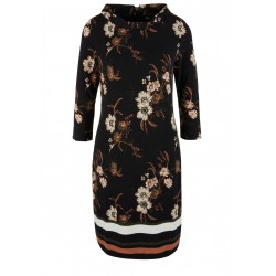 Jersey dress with collar trim by s.Oliver Black Label