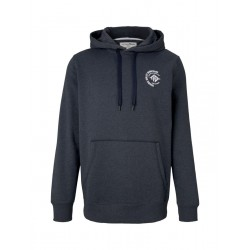 Hoody with small chest print by Tom Tailor Denim
