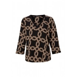 Satin blouse with chain print by Comma
