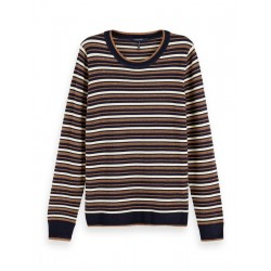 Sweater with stripes in organic quality by Maison Scotch