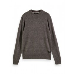 Classic round neck sweater in wool blend by Scotch & Soda