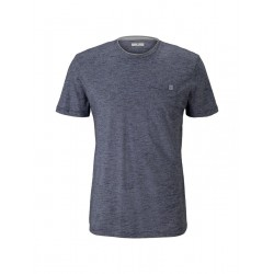 Fine striped t-shirt with breast pocket by Tom Tailor