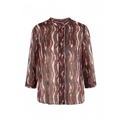 High necked blouse with pattern by s.Oliver Black Label
