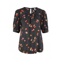 Short sleeve blouse with all-over pattern by Q/S designed by