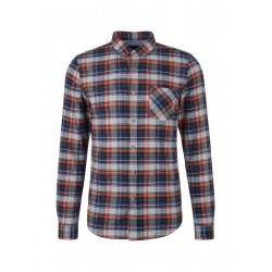 Slim Fit: Shirt with checks by s.Oliver Red Label