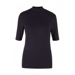 High neck shirt with rib structure by s.Oliver Red Label