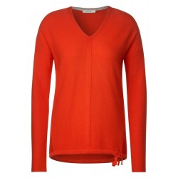 Structured V-Neck Pullover by Cecil