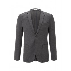 Jersey jacket with fine houndstooth pattern by Tom Tailor
