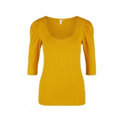 Ribbed shirt with puff sleeves by Q/S designed by