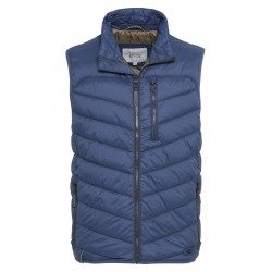 Quilted vest with zipper by Camel