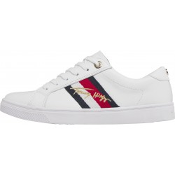 Metallic signature cupsole trainers by Tommy Hilfiger