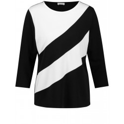3/4 sleeve shirt with block stripes by Gerry Weber Collection