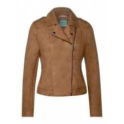 Synthetic suede jacke by Street One