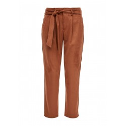 Paperbag-Pants aus Velours by s.Oliver Red Label