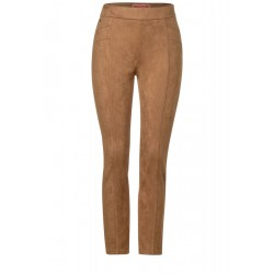 Soft pants in velour look by Street One