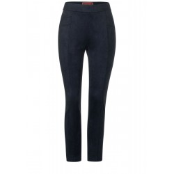 Pantalon doux en aspect velours by Street One