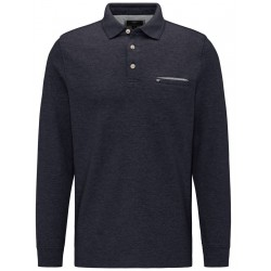 Long sleeve polo with breast pocket by Fynch Hatton
