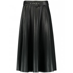 A-line skirt in leather look by Taifun