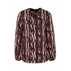 Crêpe blouse with pattern by s.Oliver Black Label