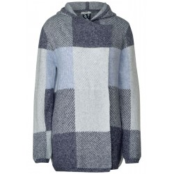 Check Cardigan with Hoodie by Cecil