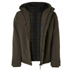 Jacket hooded padded double front closure by No Excess