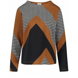 Sweatshirt with patch look by Gerry Weber Collection
