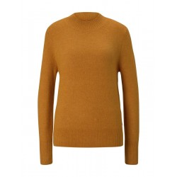 Mottled sweater with a stand-up collar by Tom Tailor Denim