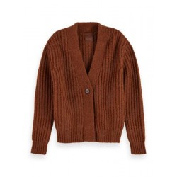 Knitted cardigan in wool-alpaca mix by Maison Scotch