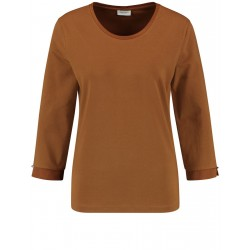 3/4 sleeve shirt with satin trim by Gerry Weber Collection