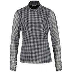Langarmshirt mit Hahnentrittmuster by Gerry Weber Collection