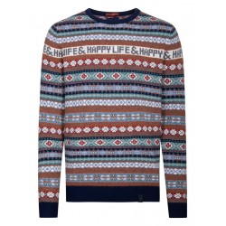 Knitted sweater with pattern by Colours & Sons