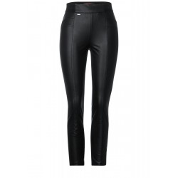 Trousers with coating by Street One