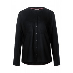 Solid buttoned blouse w pocket by Street One