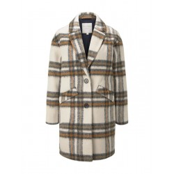 Check cocoon coat by Tom Tailor Denim