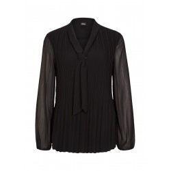 Chiffon blouse with sip by s.Oliver Black Label