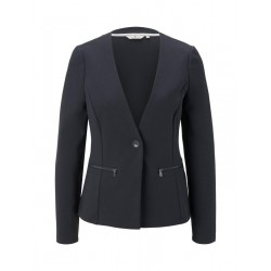 Collarless blazer by Tom Tailor