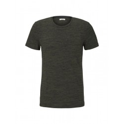 Meliertes T-Shirt mit Brusttasche by Tom Tailor