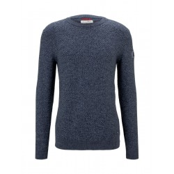 Pullover with a textured pattern by Tom Tailor Denim