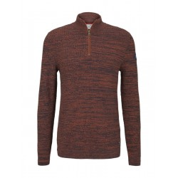 Textured jumper with a stand-up collar by Tom Tailor Denim