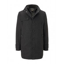 Wool coat with a quilted undercoat by Tom Tailor