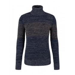 Colorfully structured turtleneck sweater by Tom Tailor