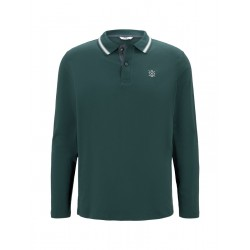 Weiches Langarm Poloshirt by Tom Tailor